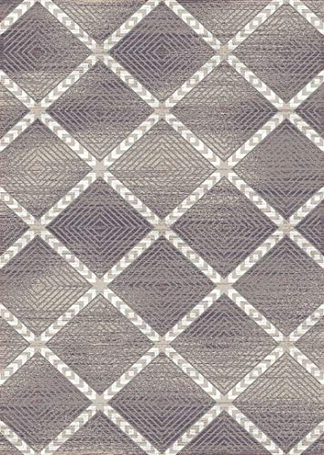 PlanetRugs Symphony Area Rug (5'2'' X 7'6'') Design 27008 Taupe Ivory Cream Beige Trellis Moroccan Modern Geometric Wavy Lines Contemporary for Bedroom, Living Room, Dining (Symphony Taupe Rug)