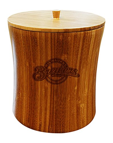 MLB Milwaukee Brewers Unisex MLB Bamboo Ice Bucket, Natural, 8