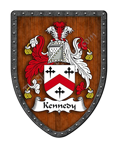 Kennedy - Scotland Family Crest Custom Coat of Arms , Family Ancestry and Heritage Hanging Metal Shield - Hand Made in the USA
