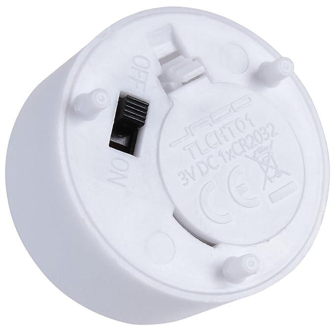 Velas de té LED, parpadeante, sin llama, funciona con batería, lámpara para mesa, color blanco (cantidad a elegir): Amazon.es: Hogar