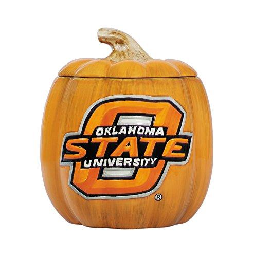 cumberland Designs Oklahoma State Ceramic Pumpkin Treat Jar