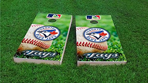 Toronto Baseball 2x4 Cornhole Board Set - ACA Regulation Sized - Includes 8 Corn Filled Bags Toronto Blue Jays Game