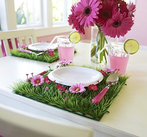 Butterfly Craze 4 Pcs Party Table Decorations Table Decor Flower Placemat For Girls Flower Party -