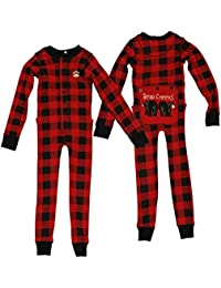 Bear Cheeks Red & Black Plaid FlapJacks Lazy One Sizes in Adults, Childs, Infants lazy one flapjack: 12