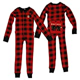 Lazy One Bear Cheeks Adult Red Flapjack Pajamas Long Johns Medium