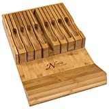 best seller today In-Drawer Bamboo Knife Block Holds 16...