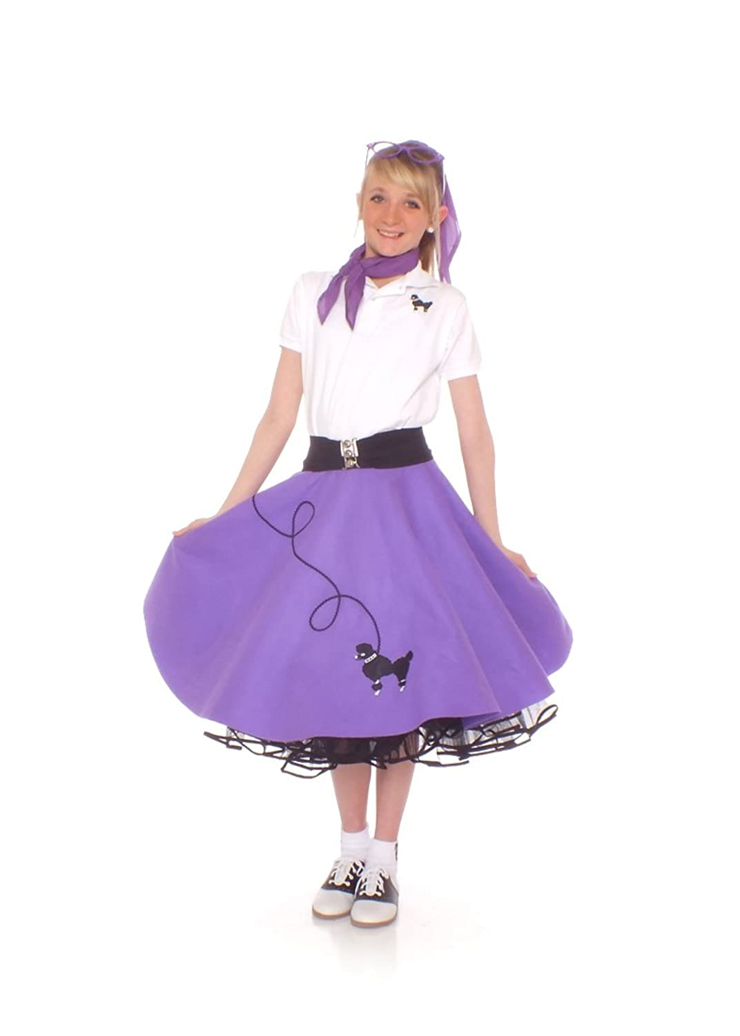 Kids 1950s Clothing & Costumes: Girls, Boys, Toddlers Poodle Skirt for Girls $36.86 AT vintagedancer.com