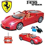 Comtechlogic® CM-2162 Official Licensed 1:20 Ferrari F430 Spider Rechargeable Radio Controlled RC Electric Car Ready To Run EP RTR