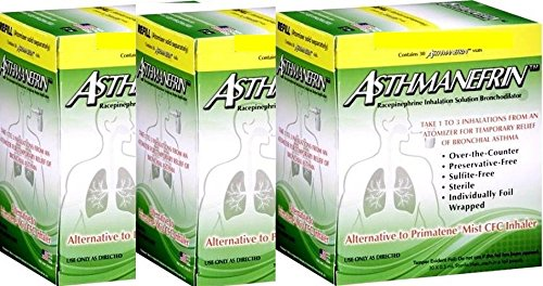 Asthmanefrin Asthma Medication Refill, 30 Count (Pack of 3) by Asthmanefrin