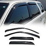 JJ 94059 Dark Smoke Wind Sun Rain Guard Vent Shade Deflector Window Visors Out Channel Style For 2001-2012 Ford Escape / 2008-2011 Mazda Tribute / 2005-2011 Mercury Mariner