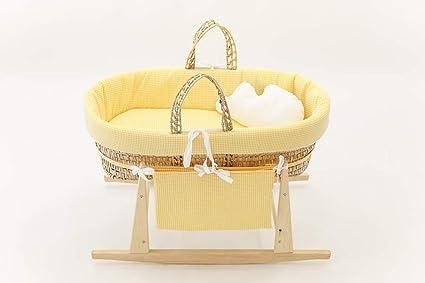 Cucos Baby Cuco Yellow - Moisés de bebé, Amarillo/Blanco, 62 ...