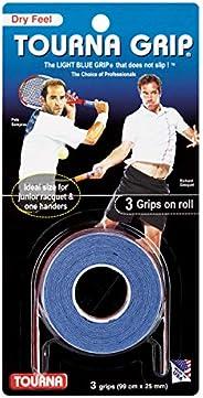 Tourna Grip Original Cartela com 3 Unique - Tourna Bola de tênis Unissex 3 peças Azul