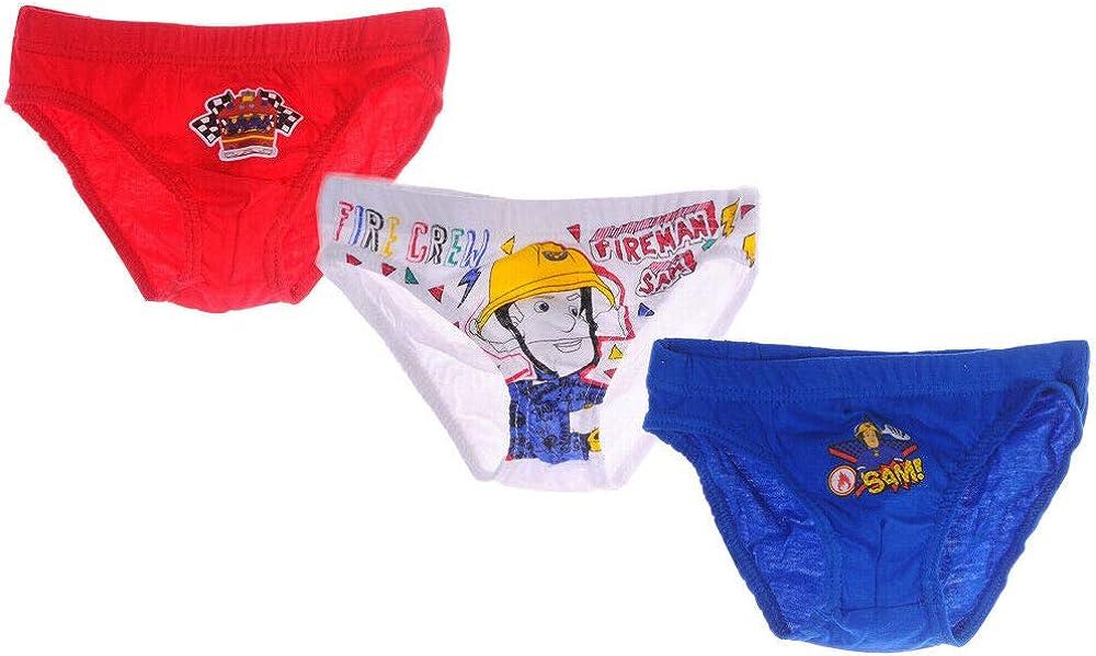 Unterw/äsche Set Kinder H/öschen Feuerwehrman SAM Slips Fireman Unterhosen