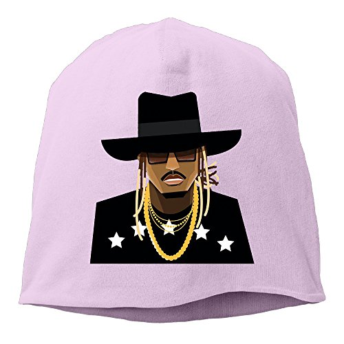YUVIA The Future Rapper Men's&Women's Patch Beanie RowingPink Hats For Autumn And Winter