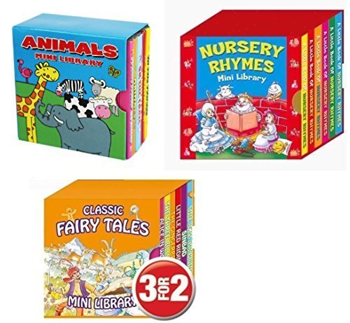 Mini Library Board Books - Bumper End of Season Sale - Special Gift Pack for Toddlers, Children, Babies - Nursery Rhymes Board Book - Fairy Board Book - Animal Board Book Mini Library - 18 Board Books