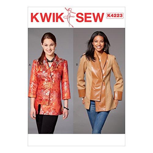 KWIK-SEW PATTERNS K4223OSZ Kwik Misses' Shawl Collar Jackets Sewing Pattern, XS-S-M-L-XL