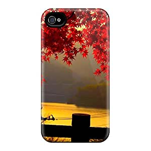 Pretty ZxL2741lUth Iphone 6 Cases Covers/ Red Autumn Leaves At Dusk Series High Quality Cases