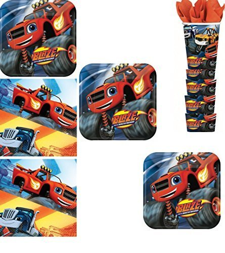 BirthdayExpress Blaze and The Monster Machines Party Pack for 16 by BirthdayExpress