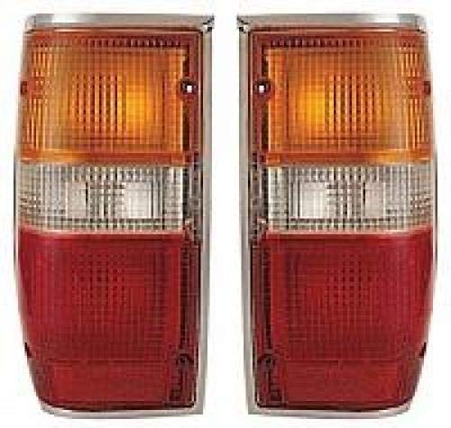 Go-Parts PAIR/SET - Compatible 1987-1995 Mitsubishi Pickup Tail Lights Rear Lamps - Left & Right (Driver & Passenger) MI2800102 MI2801102 MB527095 MB527096