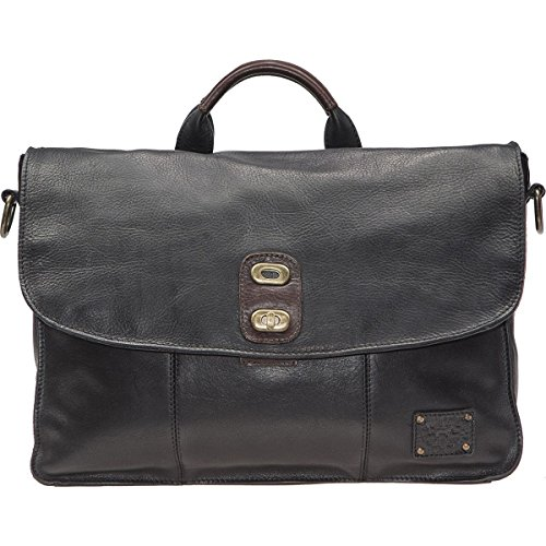 Will Leather Goods Kent Messenger Bag Black/Brown, One Size