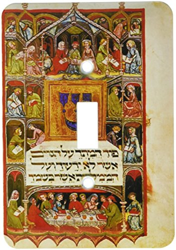(3dRose lsp_193072_1 Print of The Hebrew Haggadah From 1400 Single Toggle Switch)