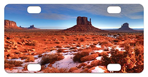 Canyon Mini License Plate By Lunarable  Long Exposure Photo Of Grand Canyon American Landmark Tranquility Native Lands  High Gloss Aluminum Novelty Plate  2 94 L X 5 88 W Inches  Orange Blue