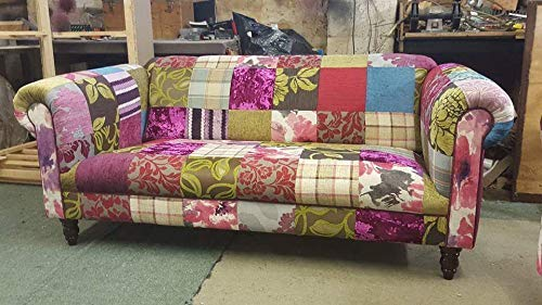 4 3 2 Seat Multi Coloured Bohemian Chesterfield Patchwork Sofas