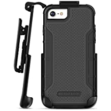 """iPhone 6 Tough Case w/ Built in Screen Protector, American Armor²(Heavy Duty)Rugged Case w/ Holster Clip for Apple iPhone6 4.7"""" [Military Grade Protection] (Black)"""