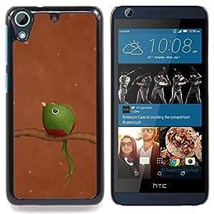 """For HTC Desire 626 Case , Rama Tropical Pájaro borroso Naturaleza Verde"""" - Diseño Patrón Teléfono Caso Cubierta Case Bumper Duro Protección Case Cover Funda"""