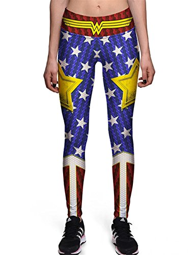 Hoyou Funky Print Leggings For Women Galaxy Floral Tribal Sexy Smooth Crazy Patterned Pants Slimming Girls Star Trek M -