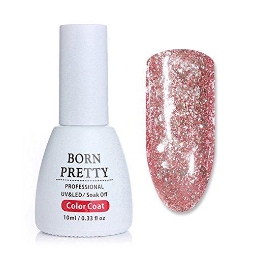 BORN PRETTY 10ml Nail Art Glitter UV Gel Polish Shining Rose