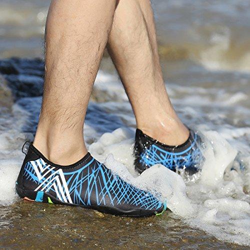 Hommes Femmes Natation Nautique Navigation Chaussures Plonge Pieds Nautiques Pool La De Snorkeling Sous marine D'eau Unisexe Nus Yoga Schage Chaussettes Aqua Sports Rapide Pour 5Zn6E6xF