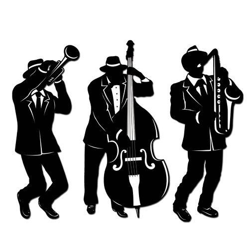Jazz Trio Silhouettes (3/Pkg) (Value 3-Pack)