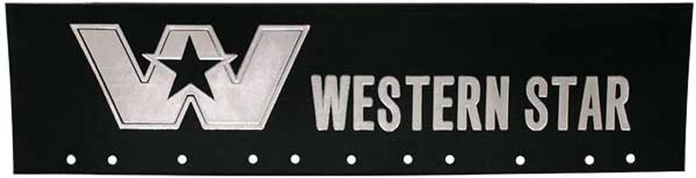 "Peterbilt Set of Red /& White 6/"" x 24/"" Semi Truck Mud Flap-quarter Fender Flaps"