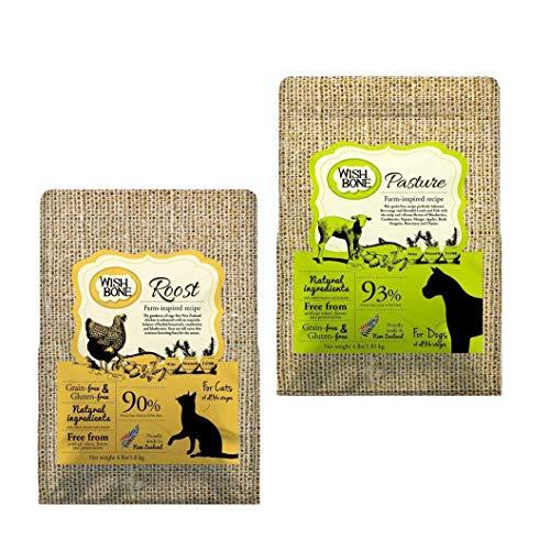 Kit: Wishbone Roost sabor frango (canino) + Wishbone Pasture sabor cordeiro (canino), 1.81kg