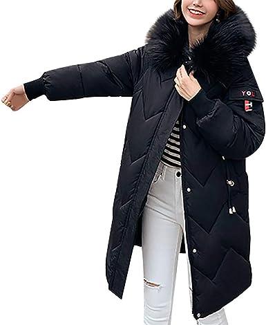 2019 Nouveau Mode Femme Doudoune Longue Manteau Zippé épais Chaud Parka Blouson Hiver Chaud Fourrure avec Capuche Elegant Slim Hoodie Jacket Veste