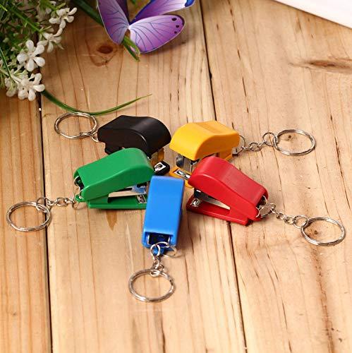 QILEGN Grapadora de tamañ o pequeñ o Colorblock Mini grapadora para ahorro de trabajo 1pc (color aleatorio)