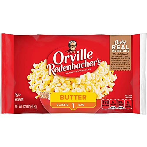 Orville Redenbacher's Butter Popcorn, 3.29 Ounce Classic Bag, Pack of 36 -