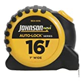 Johnson Level and Tool 1804-0016 16-Foot x 1-Inch Auto-Lock Tape