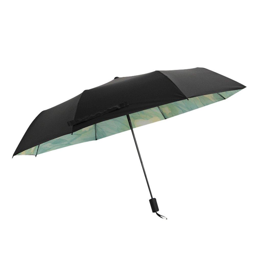 Guoke Umbrellas Umbrellas Sunscreen Uv Protection Umbrella Girl Fold Fine Rain, Two Stars.