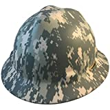 MSA Full Brim Patriotic Hard Hat w/ACU Camouflage Pattern - One Touch Suspension