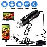 YKSINX USB Digital Microscope, 40 to 1000 x High Resolution Camera, Built-in 8pc