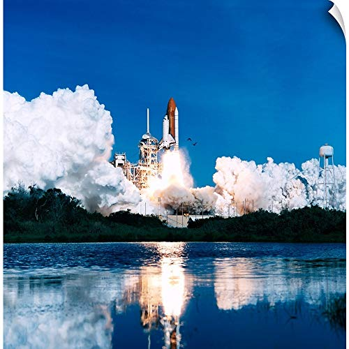 CANVAS ON DEMAND Space Shuttle Launch Wall Peel Art Print, 16