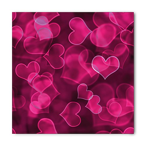 Sweetheart Bandana (Hot Pink Bandana by Ambesonne, Cute Sweet Heart Shapes on Blurry Background Romantic Valentine's Day Design, Printed Unisex Bandana Head and Neck Tie Scarf Headband, 22 X 22 Inches, Magenta Hot Pink)