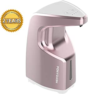 Ponydash Touchless Hand Sanitizer/Alcohol/Gel Dispenser, Automatic Soap Dispenser for All Liquid/Medicine Alconol/Gel, Auto Hand-Free Adjustable Wall Dispenser for Bathroom Kitchen Hospital