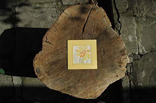 Sale!!!20% Off,Daffodils card, Paintings on Silk-Batik, Personalised Daffodils Card, Daffodil Mother's Day Card, Spring Flower Card, Daffodil Gift, Card Garden.