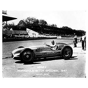 1947 Mauri Rose Race Car Indy 500 Photo Poster