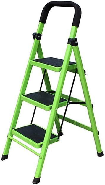 MJY Escaleras de Hierro Multipropósito de 3 Pasos/Cuatro Pasos, Escalera de Metal Estable Librería/Tienda de Ropa Escalera Unilateral / 45 * 60 * 95 Cm, 45 * 78 * 135 cm,Verde,Los 45 * 60 * 95Cm: Amazon.es: Bricolaje y herramientas