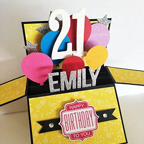 Amazon Name AgePersonalized Birthday Card Balloon