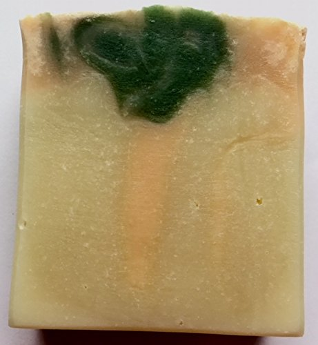 MANGO MINT. Natural Vegan Organic Soap. With Shea Butter, Olive & Coconut oils. Moisturizing, anti-inflammatory, deodorant, creamy, big bubbles. For all skin types. Men, women & children.5 ozs